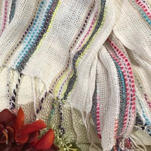 Accessories - Open-weave striped scarf